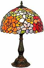 JUNJUNA Tiffany-Lampe, Buntglastisch-Lampe,