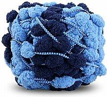 JUNMAONO Hand-Woven Decke/Wolle Roving Yarn/Grob