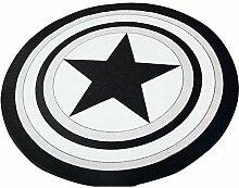 JUNMAONO Polyester Captain Shield Teppiche Teppich