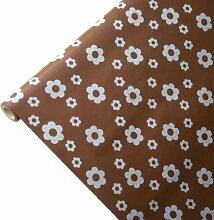 JUNOPAX 50m x 1,15m Papiertischdecke Blüte braun