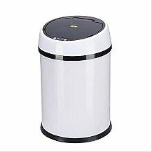 junqi Freisprecheinrichtung Motion Sensor groß Abfalleimer/Mülleimer, weiß, (6L) UK