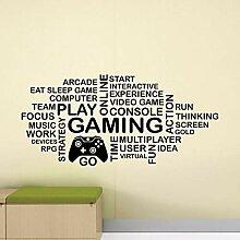 juntop Gaming Wandtattoo Wortwolke Video Gamer