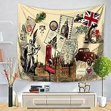 JUNZYGH Tapestry Wall Hanging,Vintage Gelbes