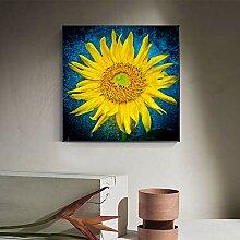 juou Ölgemälde drucken Sonnenblumenplakat