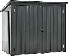 Juskys 2er Mülltonnenbox Genk 1,6 m² anthrazit -