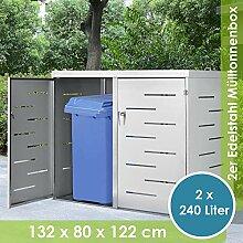 Juskys Edelstahl Mülltonnenbox Arel   2