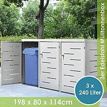 Juskys Edelstahl Mülltonnenbox Arel   3