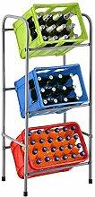 Juskys Getränkekistenregal Cool für 3 Kisten -