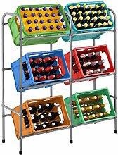 Juskys Getränkekistenregal Cool für 6 Kisten -