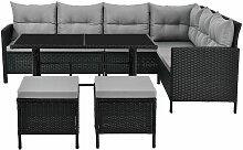Juskys Polyrattan Lounge Manacor | Terrassen /
