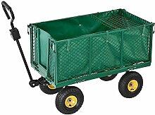 Juskys Transportkarre/Gartenwagen mit Abnehmbarer