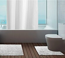 Just Contempo Badematte, 100 % Baumwolle, 50x80cm / 50x50cm., Bath Mat Set - White, Stück: 1