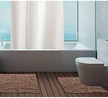 Just Contempo Badematte, 100 % Baumwolle, 50x80cm / 50x50cm., Bath Mat Set - Brown ( chocolate ) large mat, Stück: 1