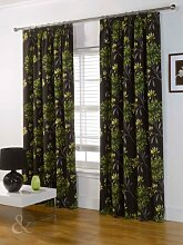 Just Contempo Badematte, Curtain 46x90 inches ( extra long living room ), Green ( brown chocolate yellow lime ), Stück: 1
