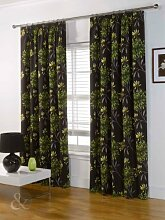 Just Contempo Badematte, Curtain 90x72 inches, Green (brown chocolate yellow lime), Stück: 1