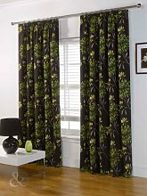 Just Contempo Badematte, Curtain 90x90 inches (extra long huge massive, Green (brown chocolate yellow lime), Stück: 1