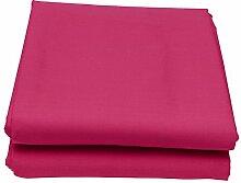Just Contempo Bettvolant, unifarben, baumwollhaltiger Stoff, King-Size-Bett, Cerise Pink (Fuchsia)