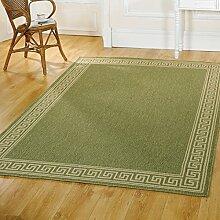 Just Contempo Flachgewebe eingefasst Hall Läufer, beige, 60x 230cm _ P, Polypropylen, grün, Runner 60 x 230 cm
