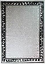 Just Contempo Flachgewebe eingefasst Teppich, beige, 120x 170cm P, Polypropylen, grau, 80 x 150 cm