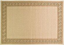 Just Contempo Flachgewebe eingefasst Teppich, beige, 120x 170cm _ P, Polypropylen, beige, 80 x 150 cm