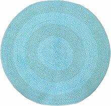 Just Contempo rund Baumwolle Badvorleger violett, baumwolle, türkis / blau, 60 cm