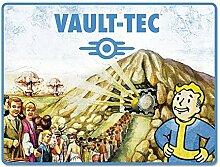 Just Funky Fallout Vault-Tec Decke, blau, 114,3x 152,4cm