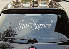 Just Married '(2), design Auto Aufkleber (weiß)