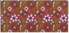 Just My Locker-Tapete, Weiß/Pink/Orange, Blumenmuster, Hintergrund braun)