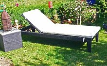 Just relax Top PolyRattan Design Garten Liege Sonnenliege SUPERGUT & günstig