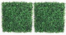 JUSTDOLIFE 2 Stücke Künstliche Buchsbaumplatte