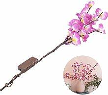 JUSTDOLIFE LED Zweig Licht Schmetterling Orchidee