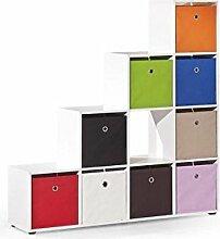 JUSThome Caboto Raumteiler Regal Standregal (HxBxL): 144x33x139 cm Farbe: Weiß