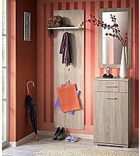 JUSThome JACUB Garderobe Garderobenset Garderobenschrank (HxBxT): 190x110x35 cm Sonoma Eiche