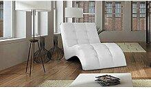 JUSThome LAGUNA Liege Relaxliege Loungesessel Kunstleder (BxLxH): 76x170x83 Weiß