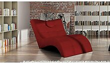 JUSThome LONDON Liege Relaxliege Loungesessel Kunstleder (BxLxH): 84/76x170x92 Ro