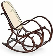 JUSThome Max Bis Sessel Schaukelstuhl Relaxsessel (HxBxT): 95x52x90 cm Farbe: Nussbaum