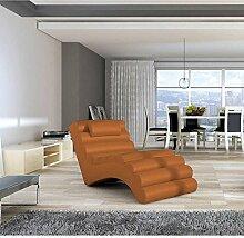 JUSThome MIAMI Liege Relaxliege Loungesessel Kunstleder (BxLxH): 75x168x80 Orange