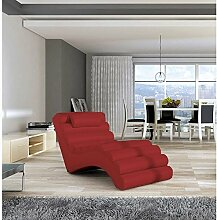 JUSThome MIAMI Liege Relaxliege Loungesessel Kunstleder (BxLxH): 75x168x80 Ro