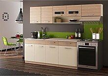 JUSThome Moreno Küchenzeile Küchenblock Küche Farbe: Cocobolo