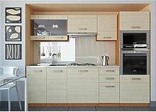 JUSThome Paula Küchenzeile Küchenblock Küche 240 cm Farbe: Eiche I