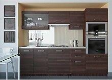 JUSThome Paula Küchenzeile Küchenblock Küche 240 cm Farbe: Eiche