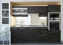 JUSThome Torino II LED Küchenzeile Küchenblock Küche 240 cm Länge Griffvariante II