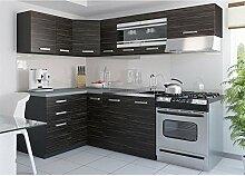 JUSThome Torino III L-Küche Küchenzeile Küchenblock 130x230 cm Länge Griffvariante I