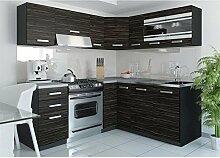 JUSThome Torino IV L-Küche Küchenzeile Küchenblock 190x170 cm Länge Griffvariante I