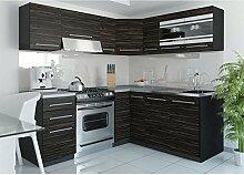 JUSThome Torino IV L-Küche Küchenzeile Küchenblock 190x170 cm Länge Griffvariante II