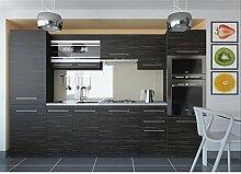 JUSThome Torino V Küchenzeile Küchenblock Küche 300 cm Länge Griffvariante II