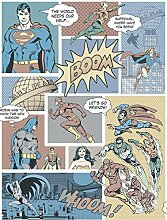 Justice League Comic Vintage Tapete