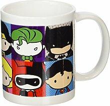 Justice League Keramik-Tasse, mit Chibi-Figuren, mehrfarbig