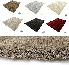 Justine Soft Hochflor HEVO® Teppich Sand 120x170 cm