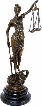 Justitia Bronze Skulptur klein mit Schwert + Waage